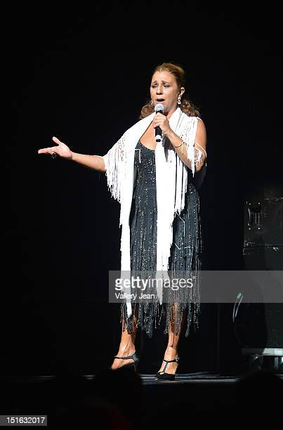 Lolita Flores performs at James L Knight Center on September 8 2012 in Miami Florida