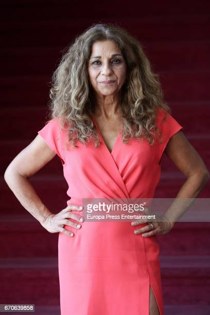 Lolita Flores performs during the presentation of the play 'Prefiero que seamos amigos' at La Latina Theater on April 19 2017 in Madrid Spain
