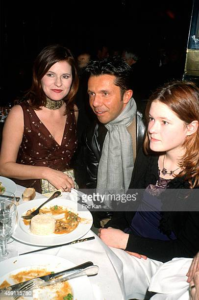 Lolita Lempicka Olivier Widmaier Picasso and Lauren Leslie Lempicka attend a fashion week Party at Les Bains Douches in the 1990s in Paris France