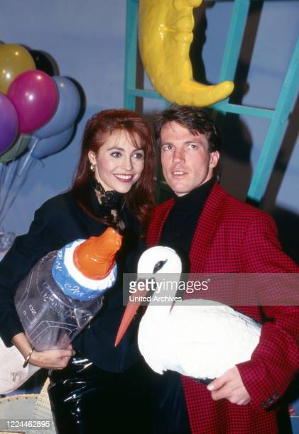 "Lolita Morena and Lothar Matthaeus at an auction of costumes that TV presenter Hella von Sinnen at TV show ""Alles nichts oder"" wore, Cologne,..."