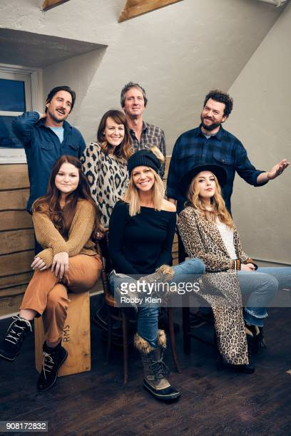 Lolli Sorenson Luke Wilson Rosemarie DeWitt Jonathan Watson Katilin Olson Danny McBride and Elizabeth Gillies from the film 'Arizona' poses for a...