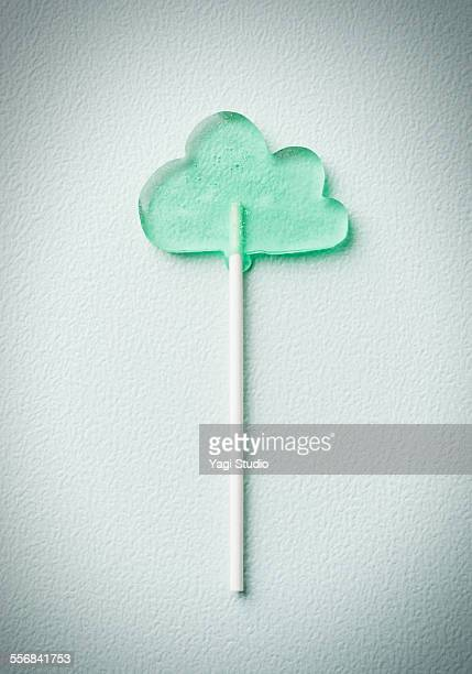 Lollipop candy in the form of cloud