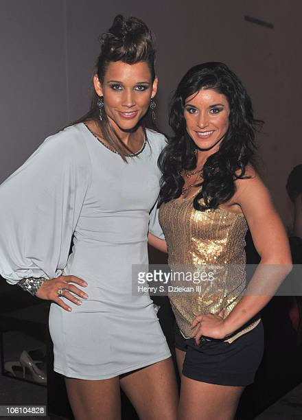Lolo Jones and Allison Baver attend ESPN The Magazine The Body Issue Party at Skylight SOHO on October 12 2010 in New York