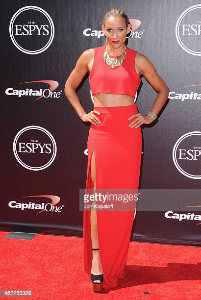 Lolo Jones arrives at the 2014 ESPYS at Nokia Theatre LA Live on July 16 2014 in Los Angeles California