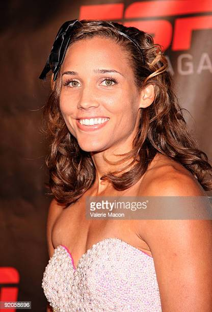 Lolo Jones arrives at the ESPN The Magazine's Body Issue on October 19 2009 in Los Angeles California