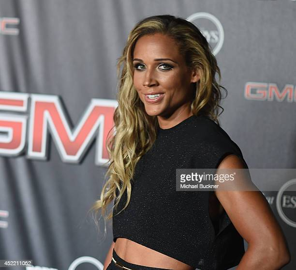 Lolo Jones arrives at the ESPN's BODY at ESPY's PreParty at Lure on July 15 2014 in Hollywood California