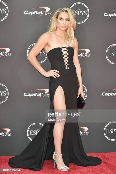 Lolo Jones attends The 2018 ESPYS at Microsoft Theater on July 18 2018 in Los Angeles California