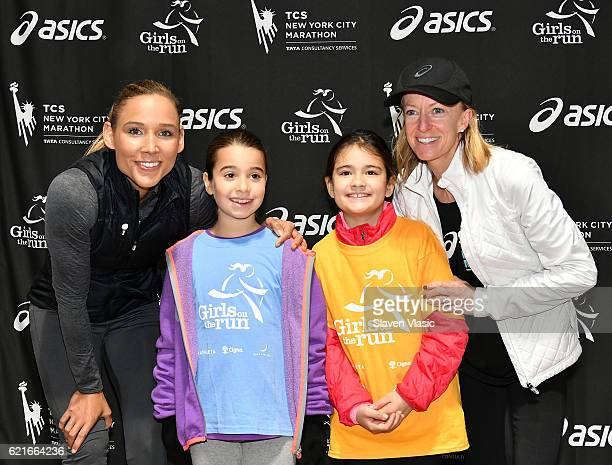 Lolo Jones multisport Olympian and twotime World Indoor Champion girls from Girls on the Run and Deena Kastor Olympian and American Marathon and Half...