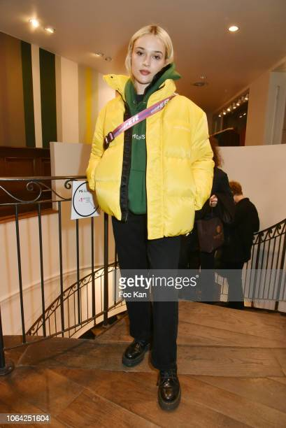 Lolo Zouai attends the Paul Smith Raspail Store 25th Anniversary Party on November 21 2018 in Paris France