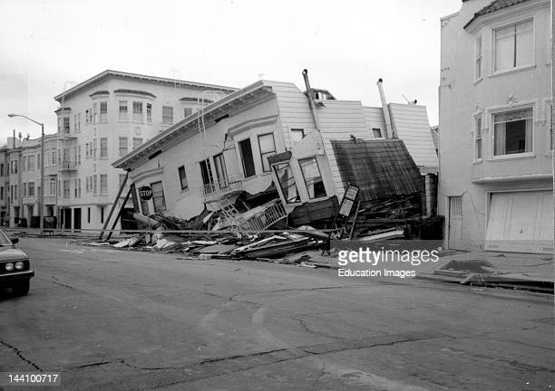 Loma Prieta California Earthquake October 17 Structures Damaged In The Marina District Of San Francisco The First Story Of This ThreeStory Building...