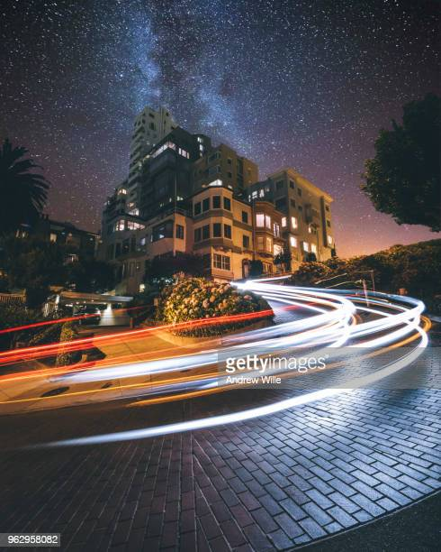 lombard street dreams - lombard street san francisco stock pictures, royalty-free photos & images