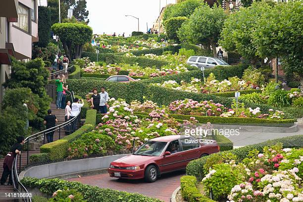 lombard street in san francisco, california, united states of america, north america - lombard street san francisco stock pictures, royalty-free photos & images