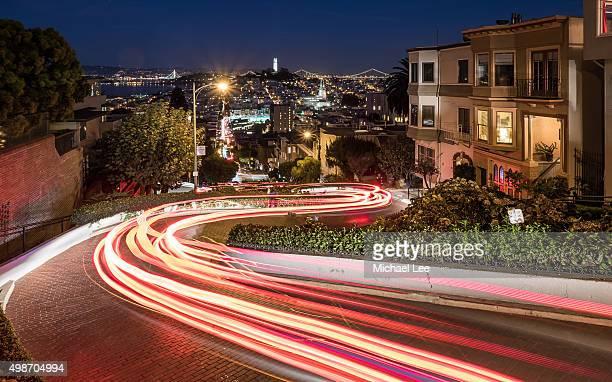 Lombard Street night trails