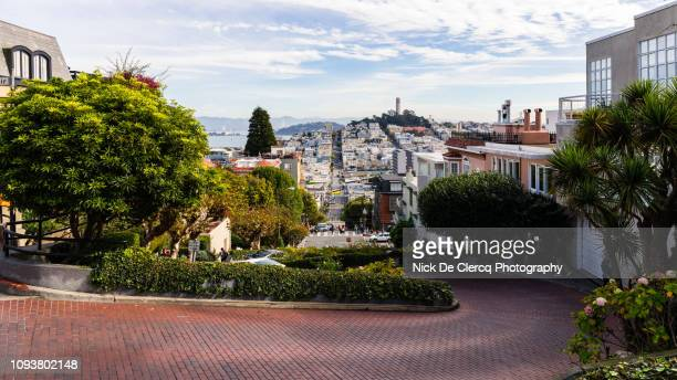 lombard street - lombard street san francisco stock pictures, royalty-free photos & images