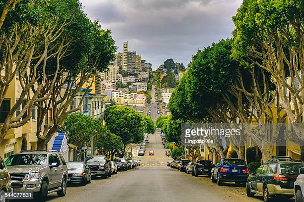 lombard street, san francisco - lombard street san francisco stock pictures, royalty-free photos & images