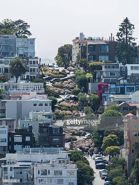 lombard street - san francisco - lombard street san francisco stock pictures, royalty-free photos & images