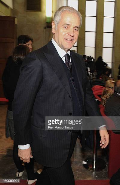 Lombardia Governor Roberto Formigoni attends the opening of the 2013 Judicial Year at Palazzo di Giustizia on January 26 2013 in Milan Italy During...