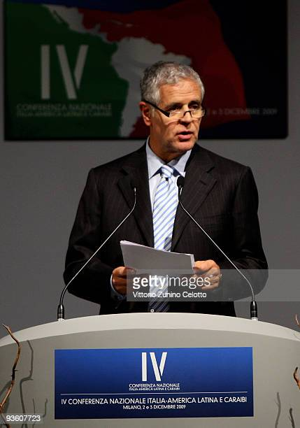 Lombardy Region President Roberto Formigoni attends the IV National Conference On Italy Latin America And The Caraibean on December 2 2009 in Milan...