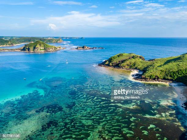 lombok island shores - indonesia stock photos and pictures