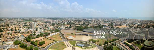 lome skyline, panoramic view - lomé, togo - togo stock pictures, royalty-free photos & images