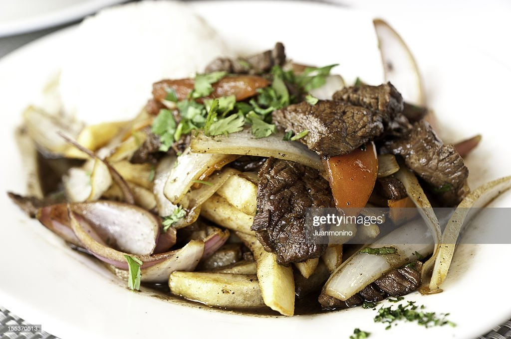 Lomo Saltado (Peruvian Stir-Fried Beef) : Stock Photo
