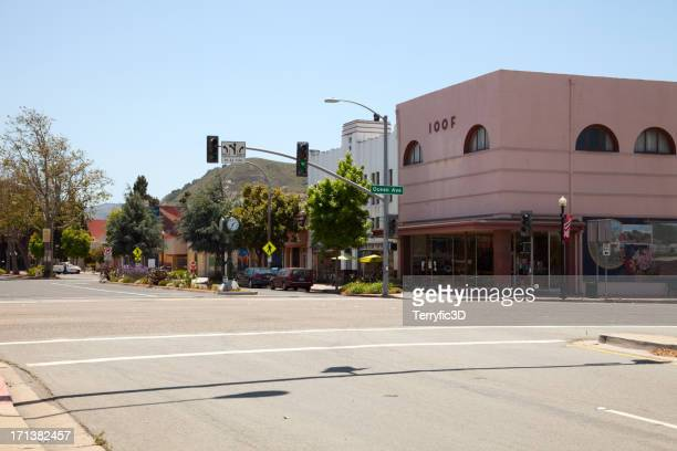 lompoc, california main street - terryfic3d stock pictures, royalty-free photos & images