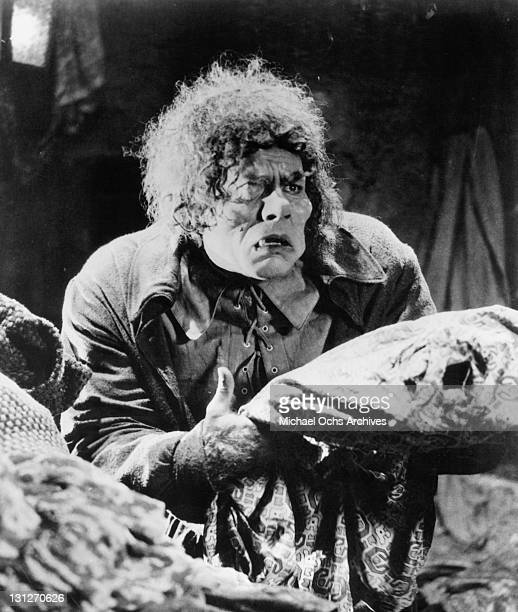 Lon Chaney as Quasimodo in a scene from the film 'The Hunchback Of Notre Dame' 1923