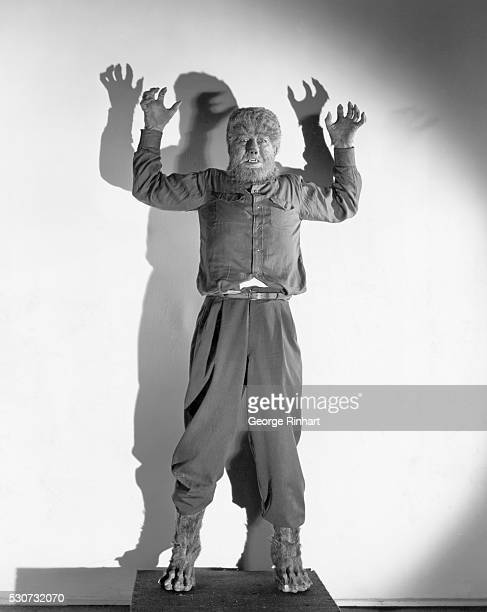 1943 Lon CHaney Jr as the Wolfman in 'Frankenstein Meets the Wolfman' It took hours of makeup to change Lon Chaney Jr into his horrible apparation...