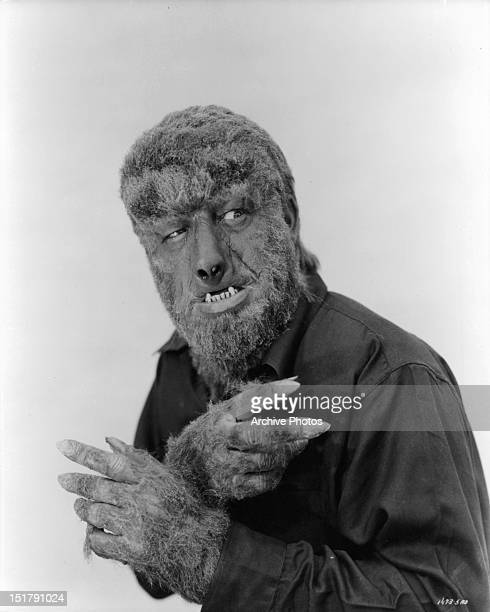 Lon Chaney Jr in a promotional portrait for the film 'The Wolfman' 1941