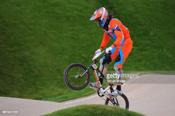 Londen Olympics, Bmx Cycling : Men Raymon Van Der Biezen / Seeding Run Bmx Track Piste, Hommes Mannen, London Olympic Games Jeux Olympique Londres...