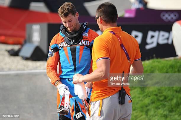 Londen Olympics / BMX Cycling : Mens Final Arrival / Raymon VAN DER BIEZEN / BMX Track Piste / Hommes Mannen / London Olympic Games Jeux Olympique...