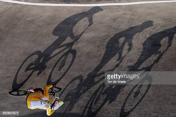 Londen Olympics / BMX Cycling : Womens Final Lauren REYNOLDS / Illustration Illustratie Shadow Hombre Schaduw / BMX Track Piste / Femmes Vrouwen /...