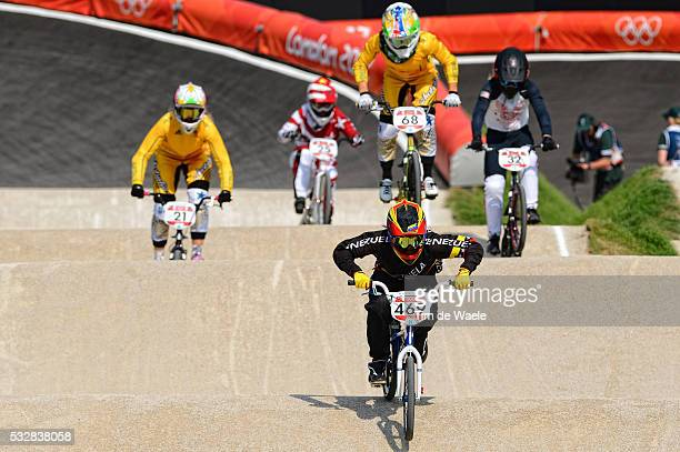 Londen Olympics / BMX Cycling : Womens Final Stefany HERNANDEZ / BMX Track Piste / Femmes Vrouwen / London Olympic Games Jeux Olympique Londres...