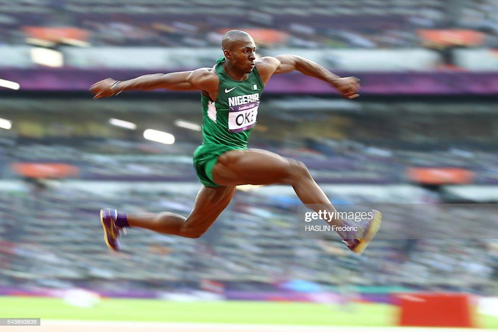 London 2012 - Athletics - Men's triple jump : News Photo