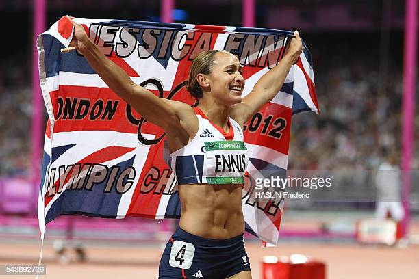 London 2012 Athletics Women's Heptathlon final Jessica ENNIS gold medalist