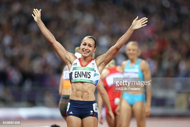 London 2012 Athletics Women's Heptathlon finale Jessica ENNIS gold medalist