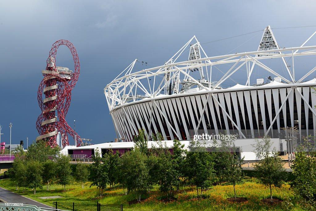 London 2012 Olympic Stadium and The Orbit : Stock Photo