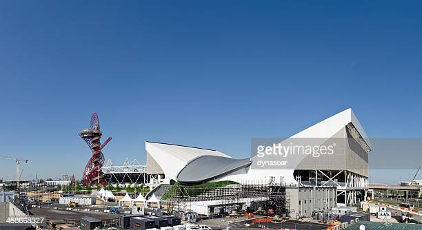 london 2012 olympics aquatic centre - 2012 summer olympics london stock photos and pictures