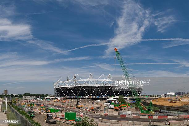 London 2012 Olympics Stadium under construction