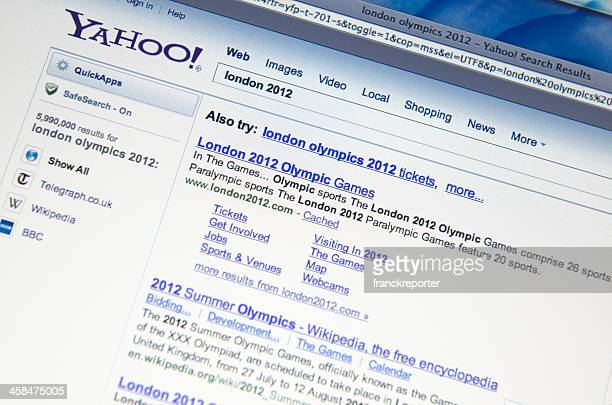london 2012 result on yahoo.com search engine - yahoo images search stock pictures, royalty-free photos & images