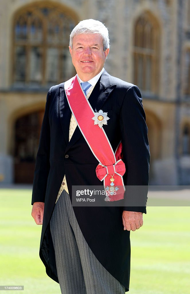 London 2012's deputy chairman Sir Keith Mills after he is made Knight Grand Cross of the Order of the British Empire by Queen Elizabeth II during an Investiture ceremony at Windsor Castle on July 19, 2013 in Windsor, England.