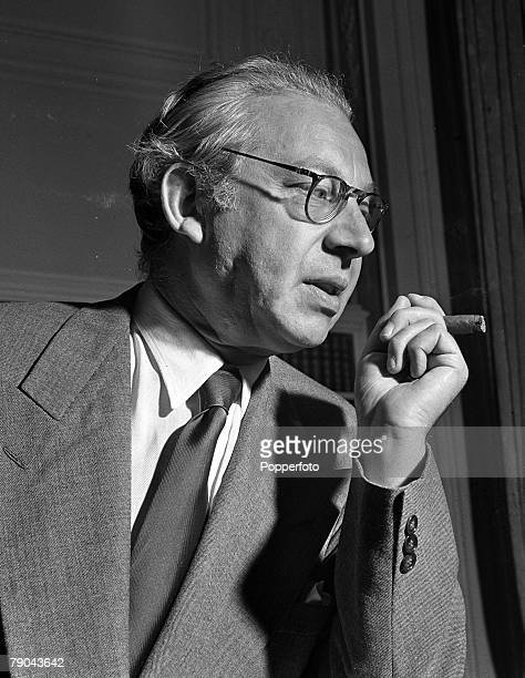 1947 London A portrait of Sir Alexander Korda the Film Chief director during his visit to postwar Britain