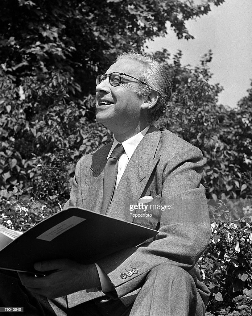1947. London. A portrait of Sir Alexander Korda, the Film Chief director, during his visit to postwar Britain. : News Photo