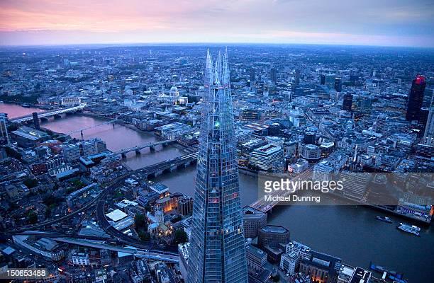 London aerial at night
