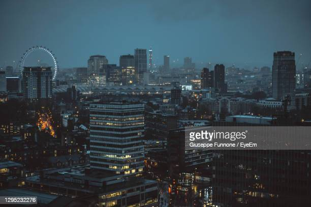 london aerial cityscape - low stock pictures, royalty-free photos & images
