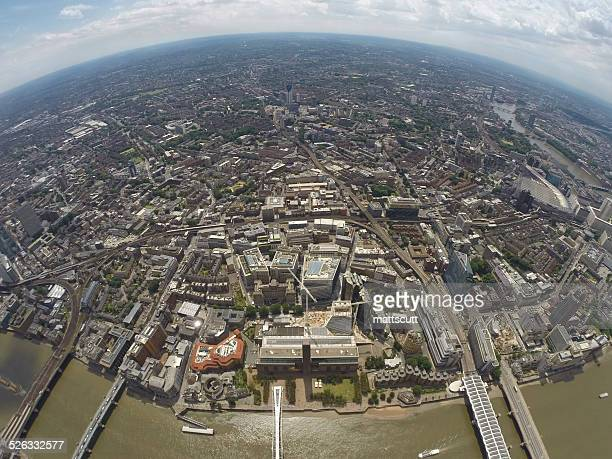 uk, london, aerial view of city with tate modern - mattscutt stock pictures, royalty-free photos & images