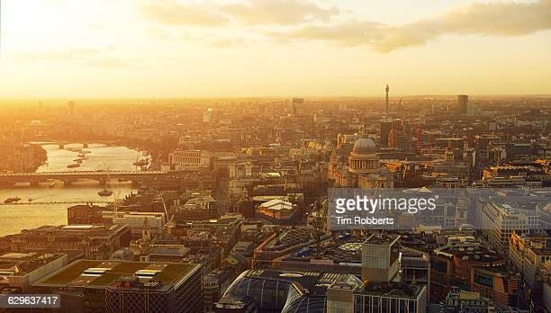 London and St.Pauls Cathedral at sunset.