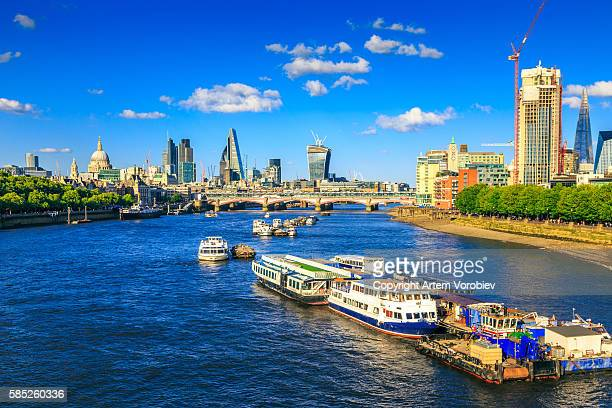 London and the River Thames in the summer