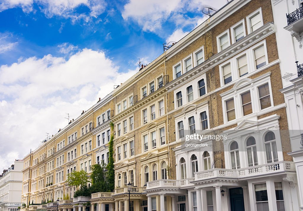 London Apartments - Kensington : Stock Photo
