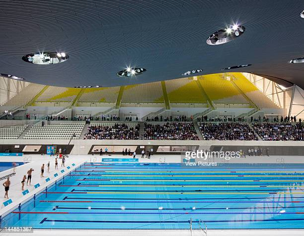 London Aquatic CentreLondon E9 United Kingdom Architect Zaha Hadid Architects London Aquatic Centre Zaha Hadid Architects London Uk View Of Swimming...